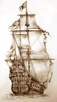 236x422 Ship Drawing