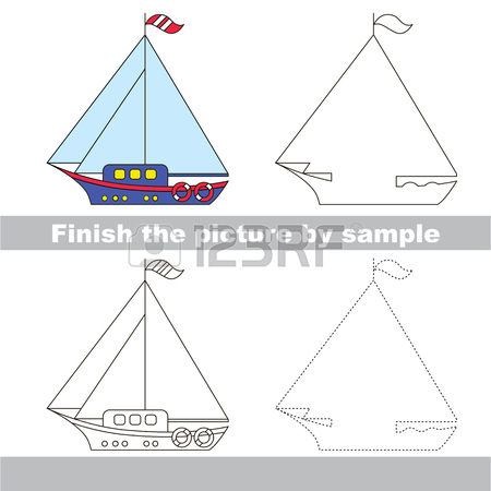 450x450 Drawing Worksheet For Children. Easy Educational Kid Game. Simple
