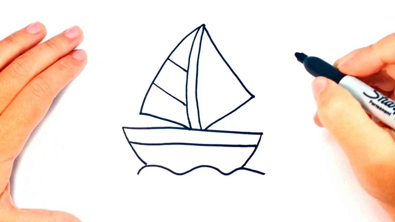 1280x720 How To Draw A Little Boat Little Boat Easy Draw Tutorial