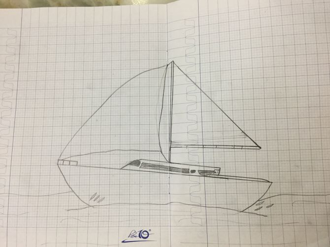 670x503 How To Draw A Sailboat 7 Steps (With Pictures)