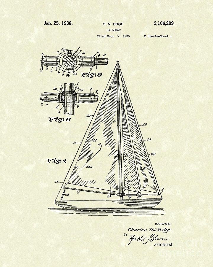 720x900 Sailboat Drawings Fine Art America