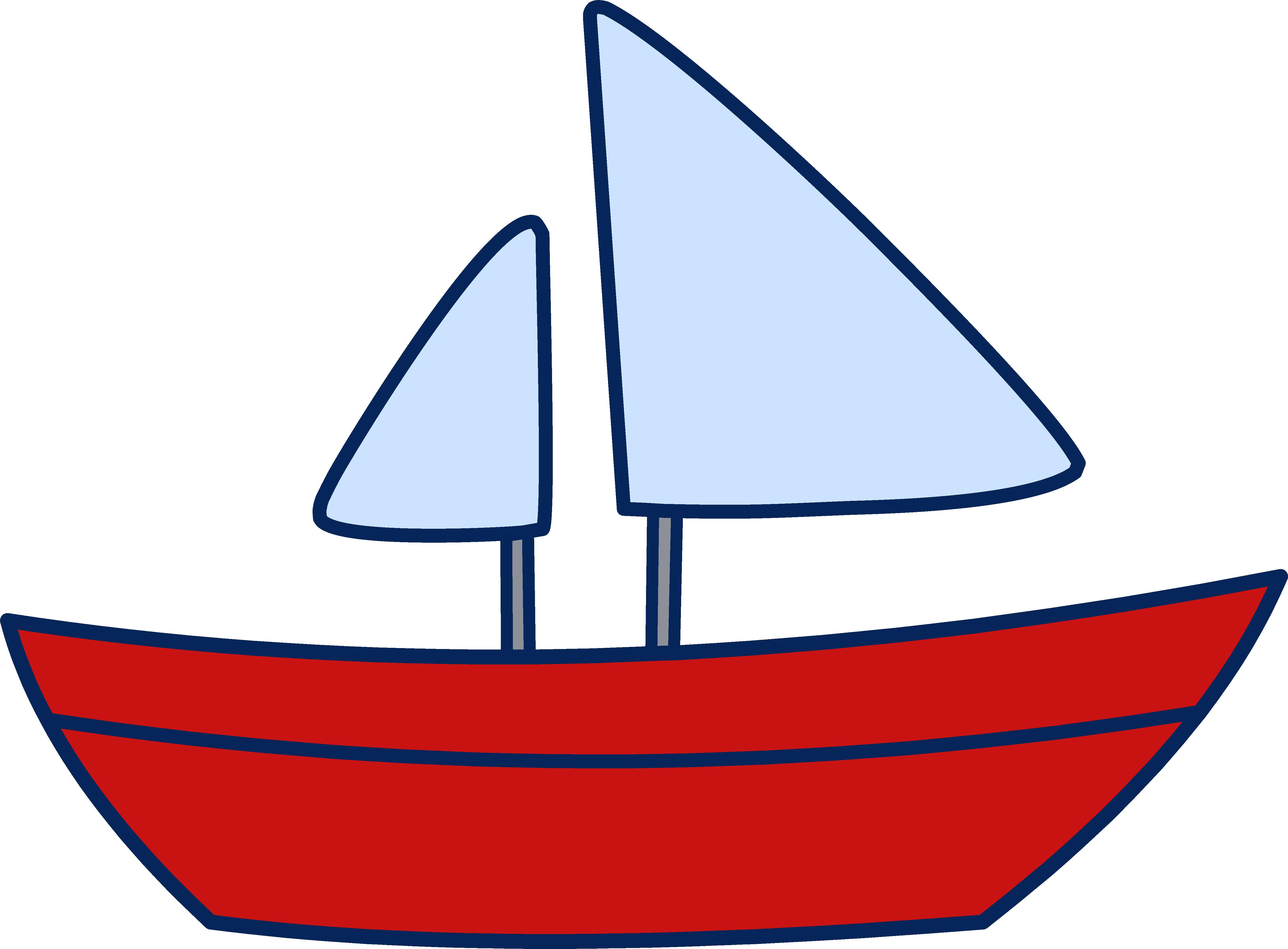 5357x3945 Simple Sailboat Drawing Clipart Panda