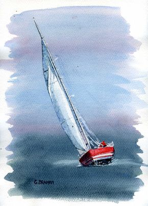 290x405 Images Of Sailboat Paintings Pin Sketch Of Sailboat