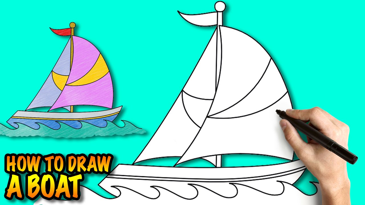 1280x720 Immediately Easy Boats To Draw How A Boat For Kids Tutorial