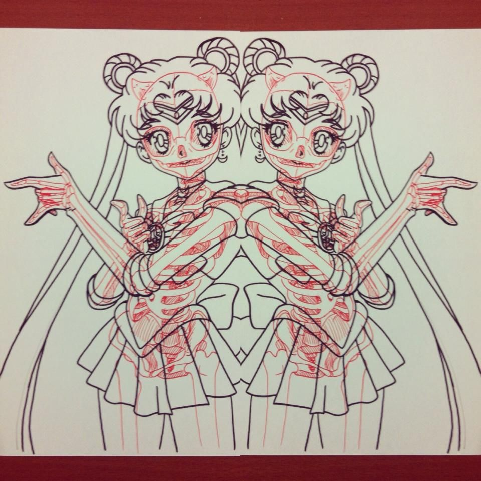 960x960 Comic Book Drawings With Skeletons The Mary Sue Sailor Moon