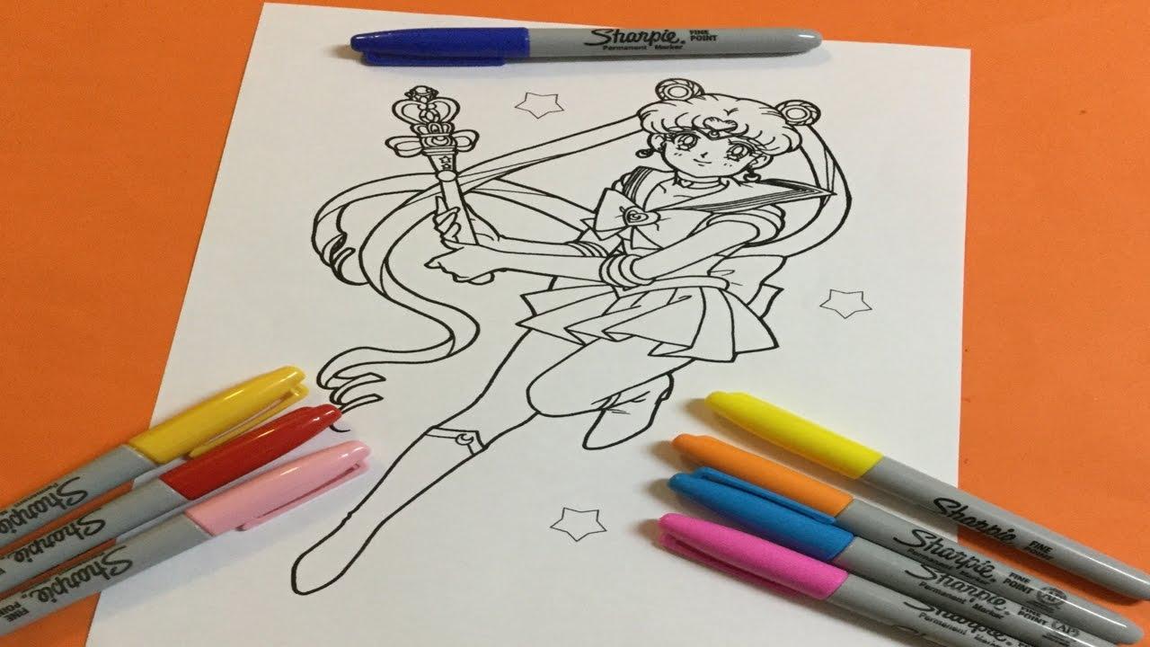 1280x720 Let's Color Sailor Moon Sailor Moon Coloring Book Color