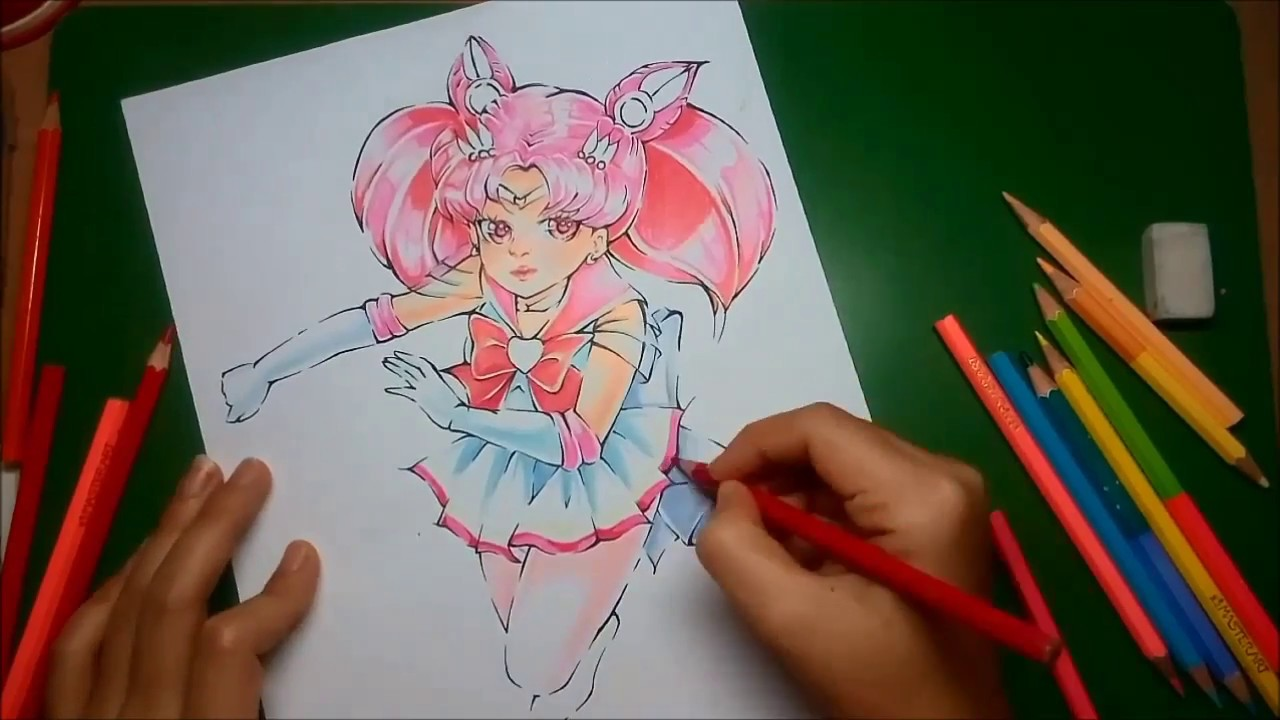 1280x720 Sailor Moon Mini Moon Speed Drawing Chibiusa