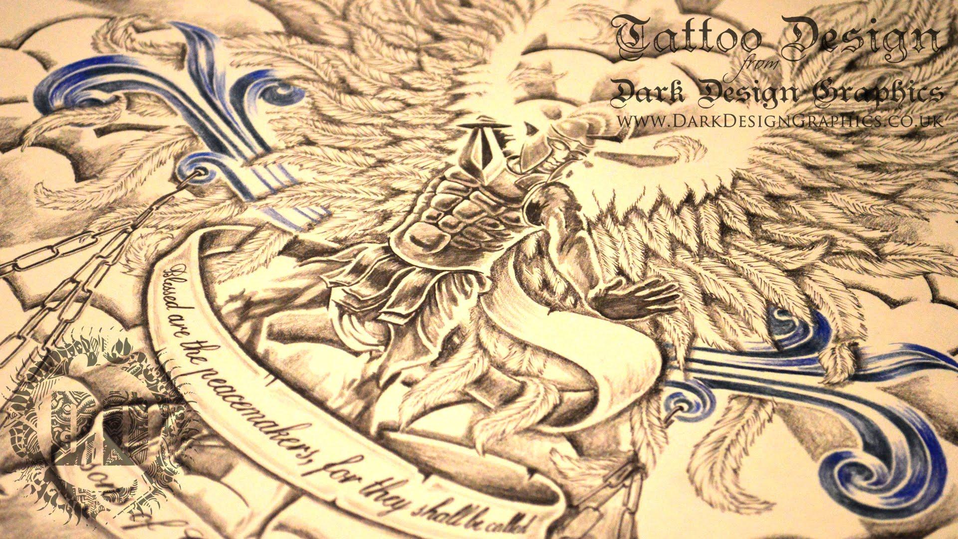1920x1080 St. Michael Tattoo Design