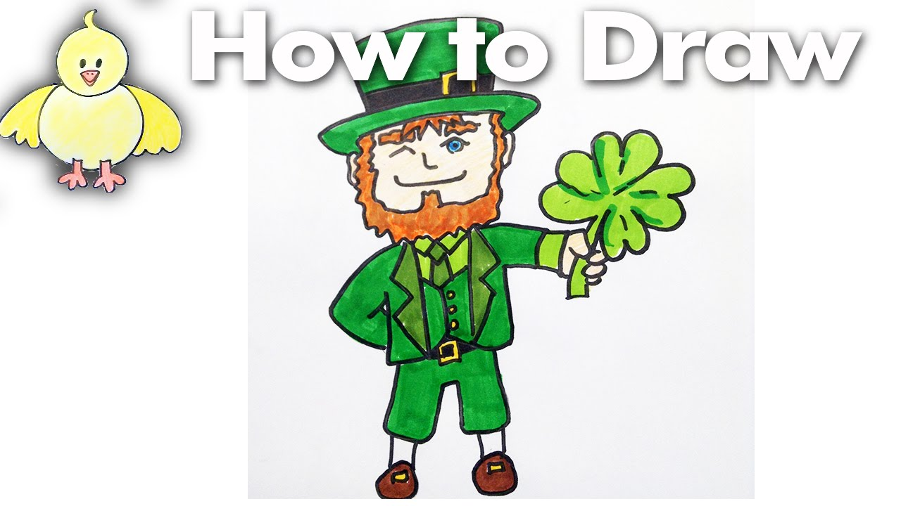 1280x720 Drawing How To Draw A Cartoon Leprechaun For Saint Patrick's Day