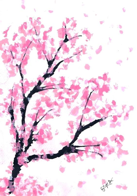 564x805 Sakura Tree Drawing On Tree Cherry Blossom Tree Branch Drawing