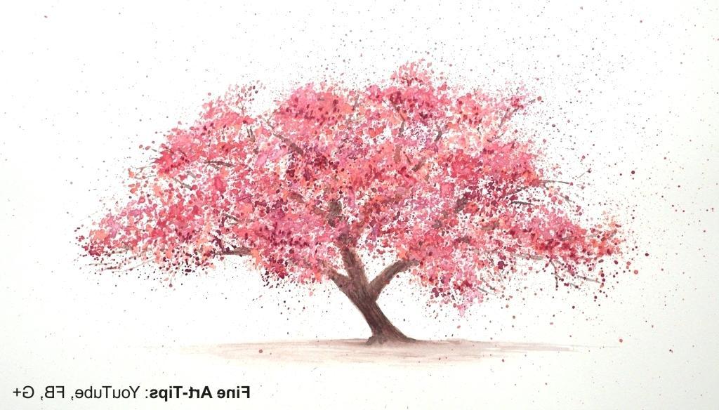 1024x584 Sakura Tree Drawing Cherry Blossom By Sakura Tree Drawing Tutorial
