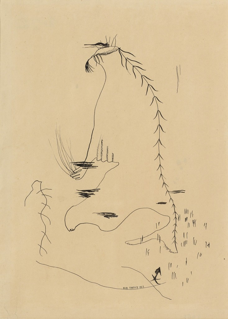 734x1024 Yves Tanguy Dessin Automatique (Automatic Drawing) (1927