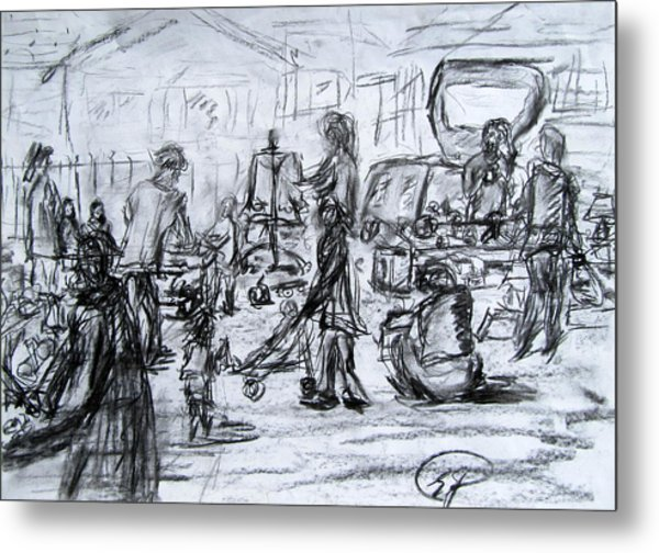 600x504 At The Car Boot Sales Drawing By Errol Jameson
