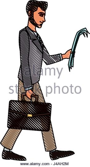 292x540 Drawing Busy Salesman Stock Photos Amp Drawing Busy Salesman Stock