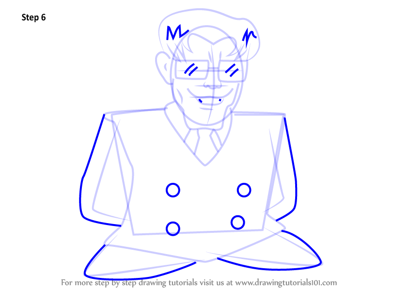 846x600 Learn How To Draw Nme Salesman From Kirby (Kirby) Step By Step