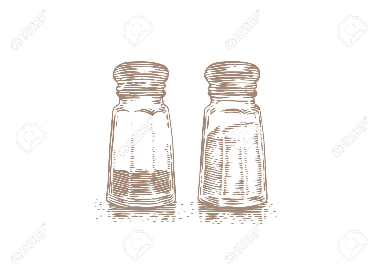 1300x919 Glass Salt And Pepper Shaker On A White Background Royalty Free