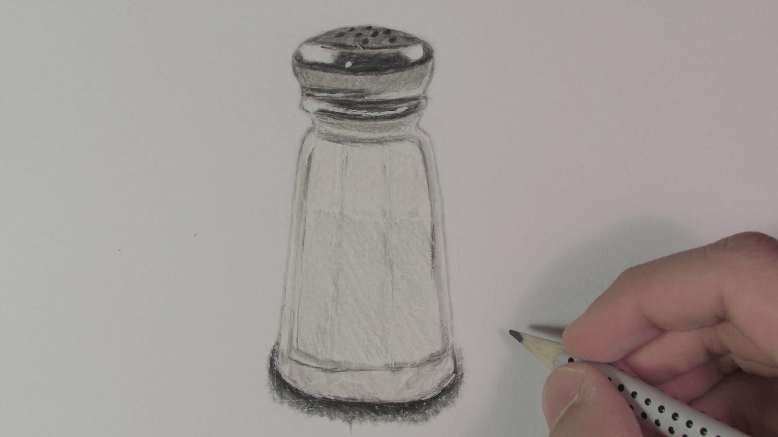 1600x899 Realistic Salt Shaker (Speed Drawing)