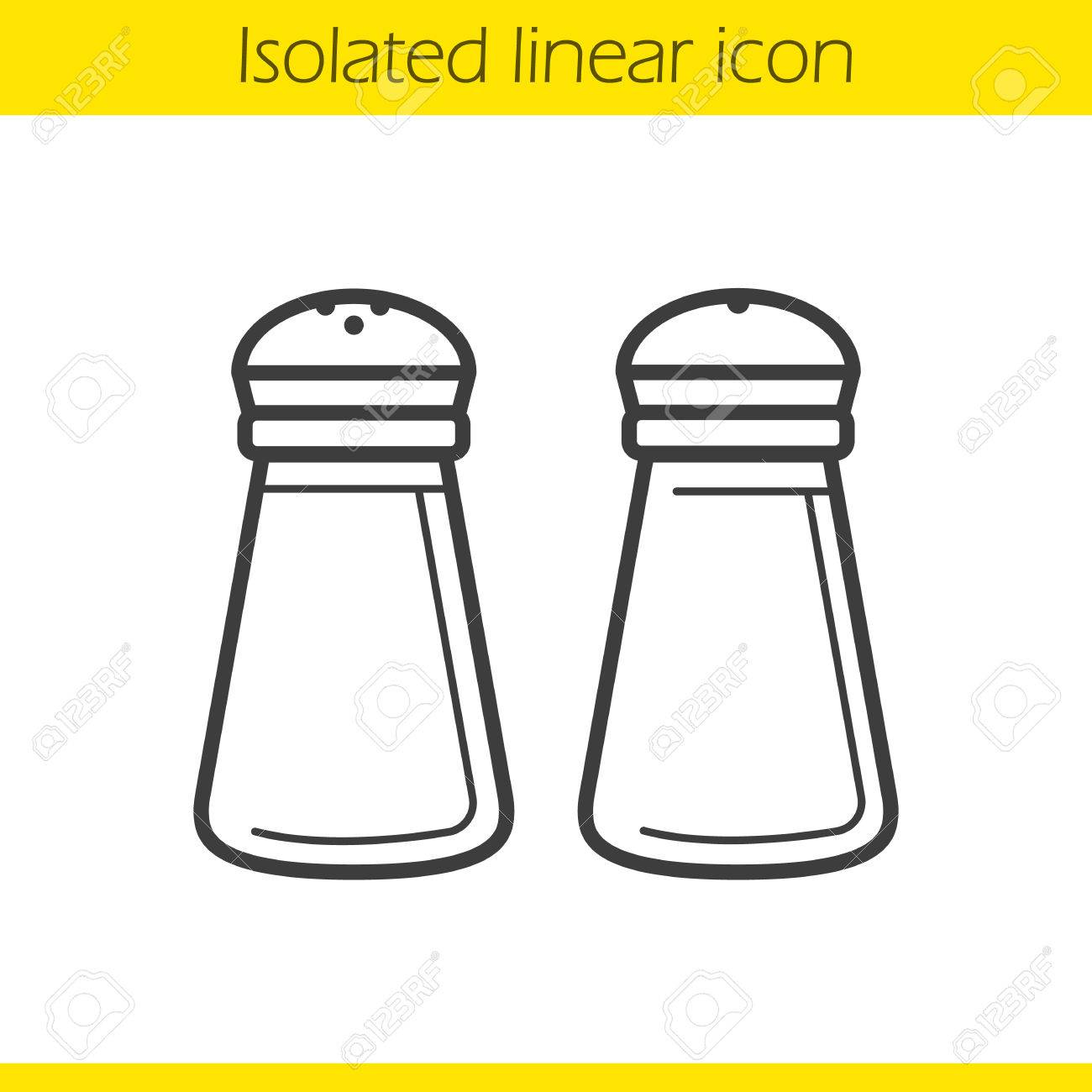 1300x1300 Salt And Pepper Shakers Linear Icon. Kitchenware. Cooking