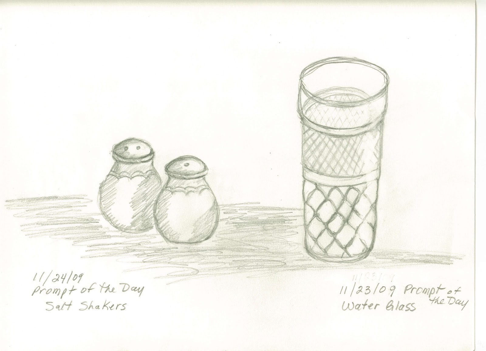 1600x1157 Sketches And Things Drinking Glass With Salt And Pepper Shakers