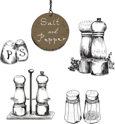 399x429 Salt And Pepper Shaker Drawings