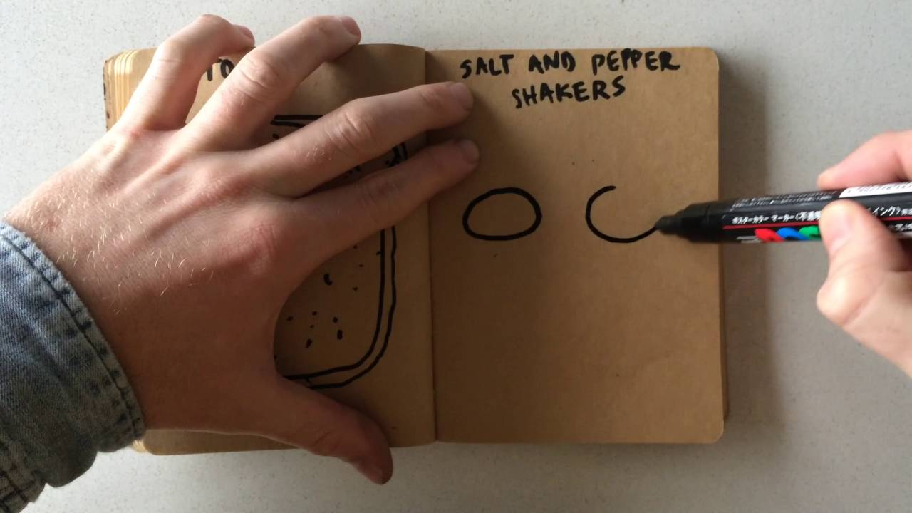 1280x720 How To Draw Salt And Pepper Shakers