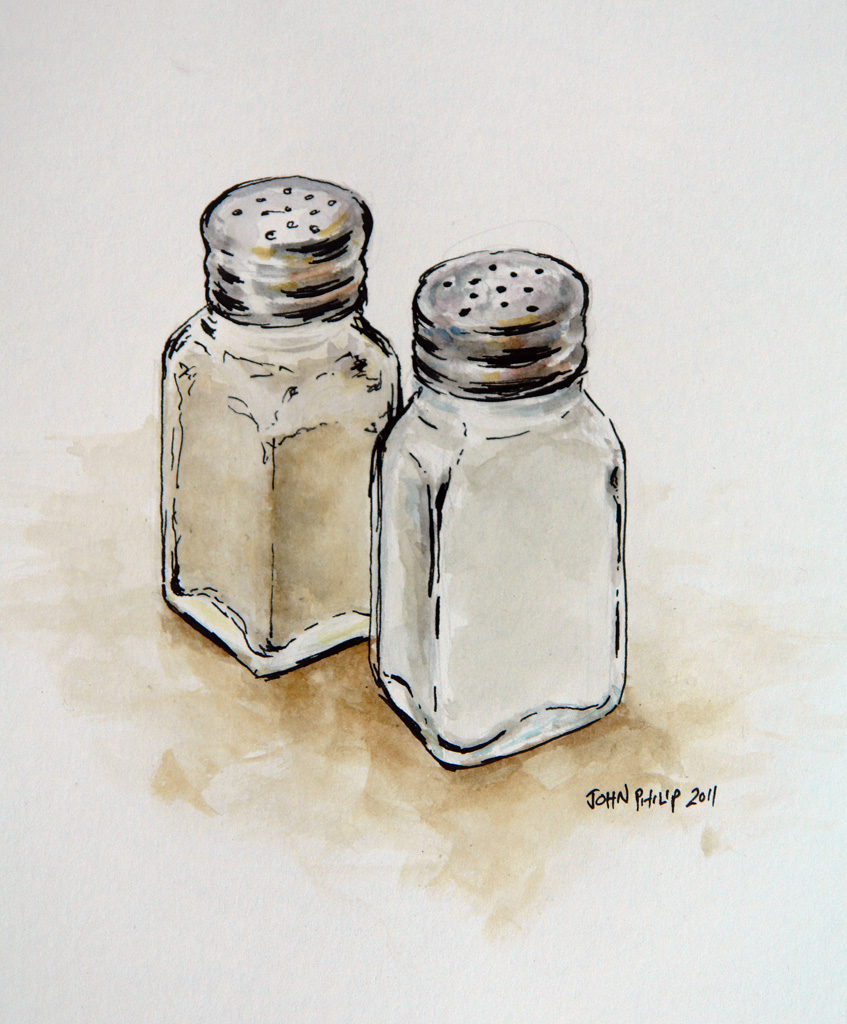 Salt And Pepper Shakers Drawing at GetDrawings.com | Free ...