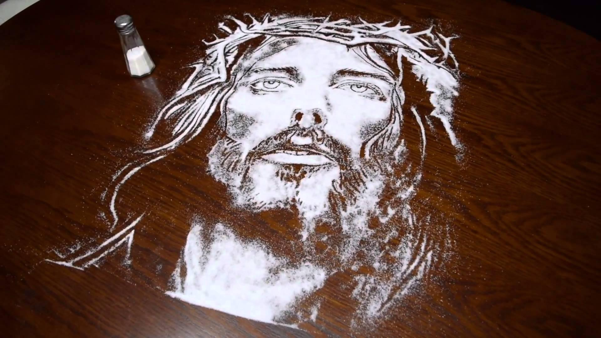 1920x1080 How To Do Salt Portraits ( Jesus Christ )