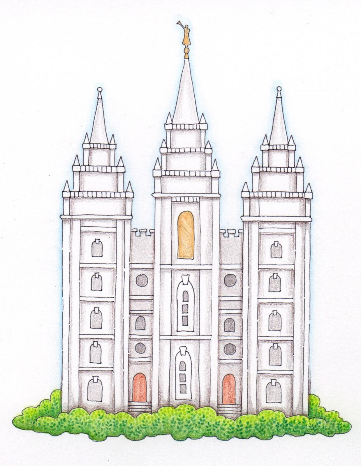 1239x1600 Salt Lake Temple Drawing Salt Lake Temple (Friday Freebie