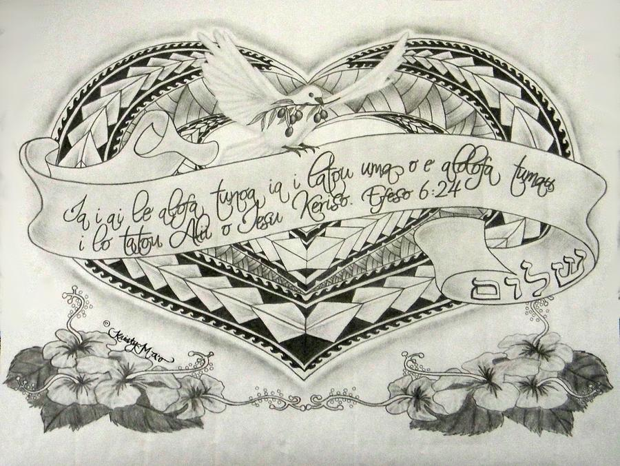 900x676 A Samoan Blessing Drawing by Kristy Mao