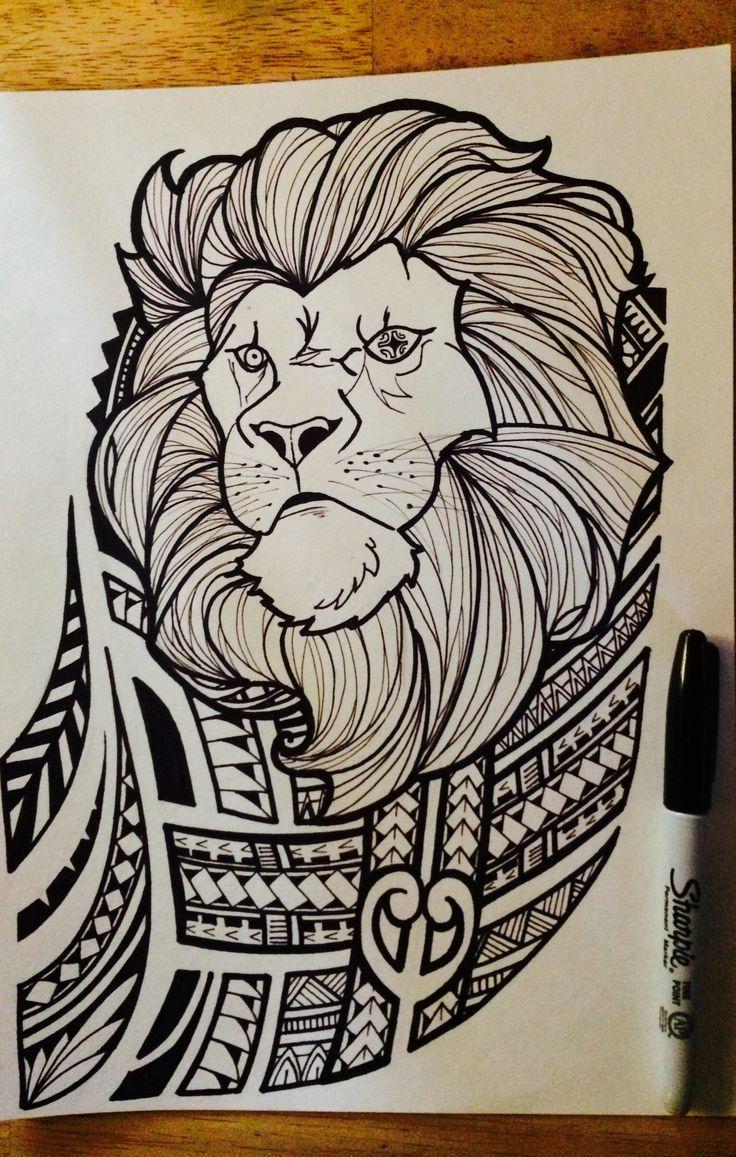 736x1157 Polynesian Tattoo Drawing