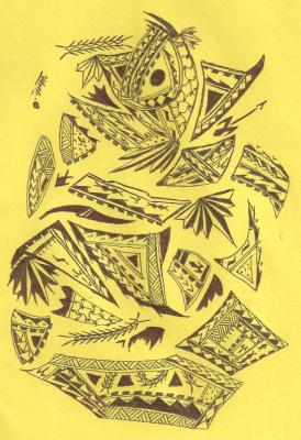 274x400 Samoan Art Work Drawing Sketch Design