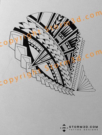 400x530 Tattoo Simplicity Drawing a halfsleeve Samoan tattoo design