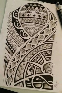 236x354 Tongan Tribal Drawings Polynesian tribal design with celtic