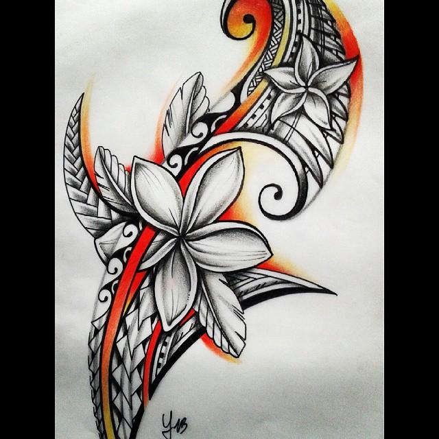 640x640 samoa flower tattoo