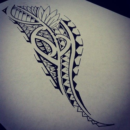 500x500 6 Awesome How To Draw Hawaiian Tribal Designs Images Tattoo