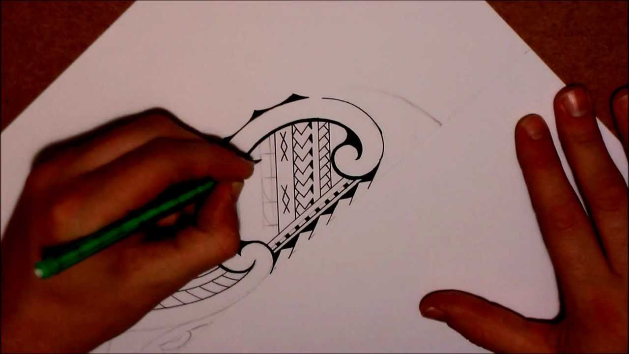 1280x720 How To Draw A Tribal Lower Leg Tattoo In Samoan Amp Maori Style