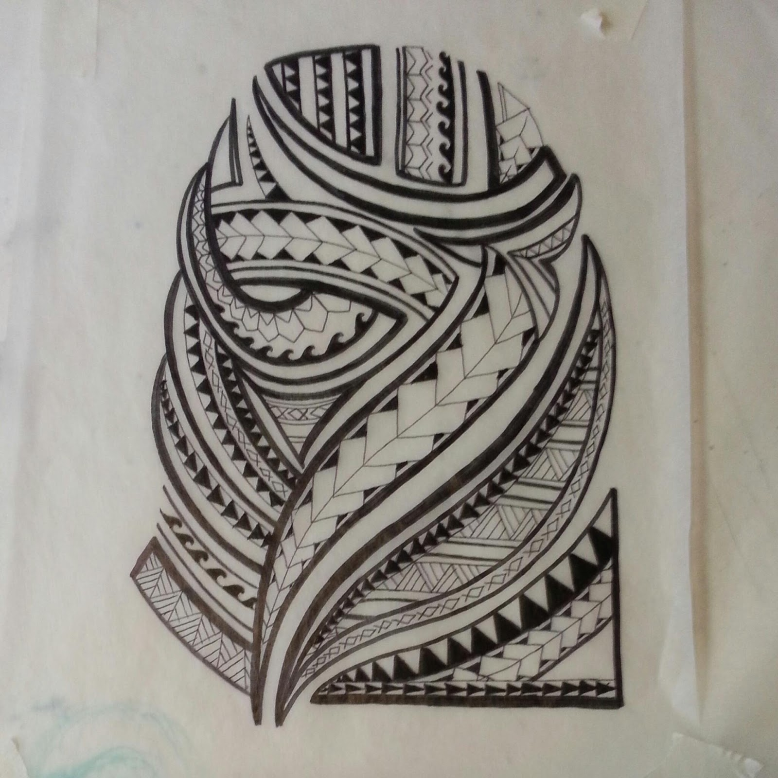 Outline Of Polonisian Sleeve: Samoan Tribal Drawing At GetDrawings