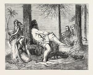 300x242 Historical Painting Delilah Asking Forgiveness Of Samson Drawing