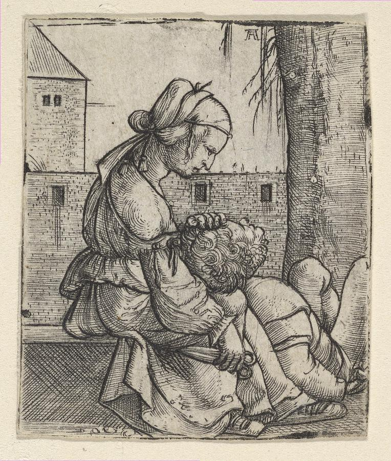 764x900 Samson And Delilah Drawing By Albrecht Altdorfer