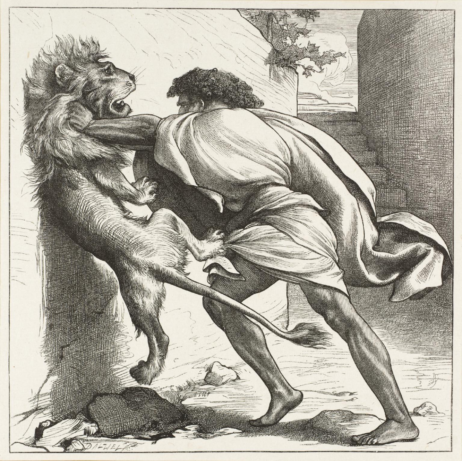 1536x1532 Samson And The Lions', Frederic, Lord Leighton, Published 1881 Tate