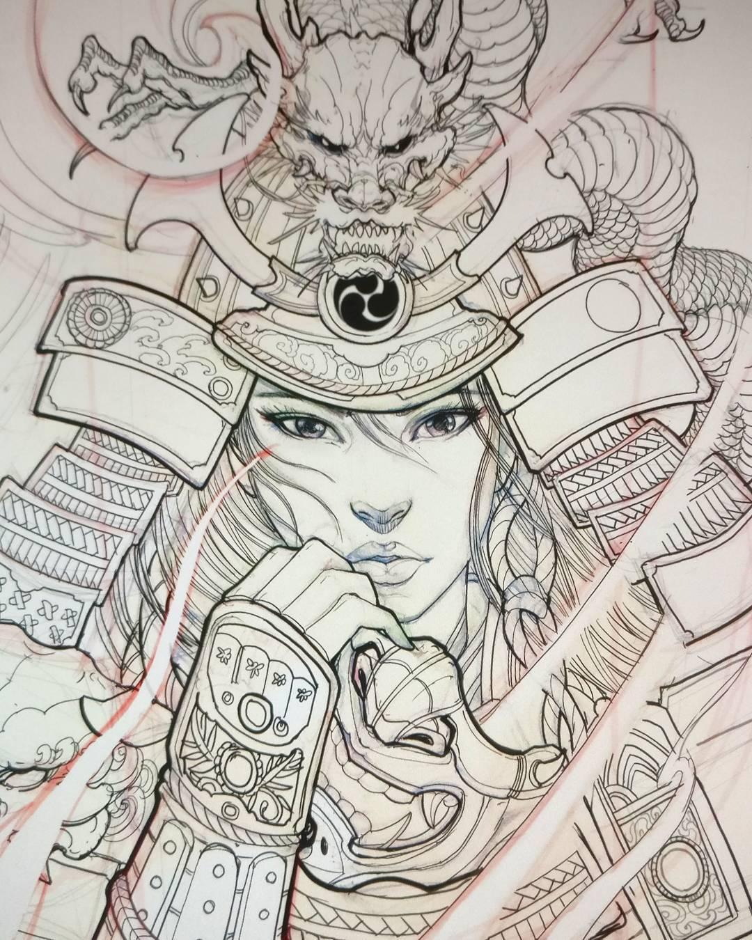 Samurai Drawing At Getdrawings