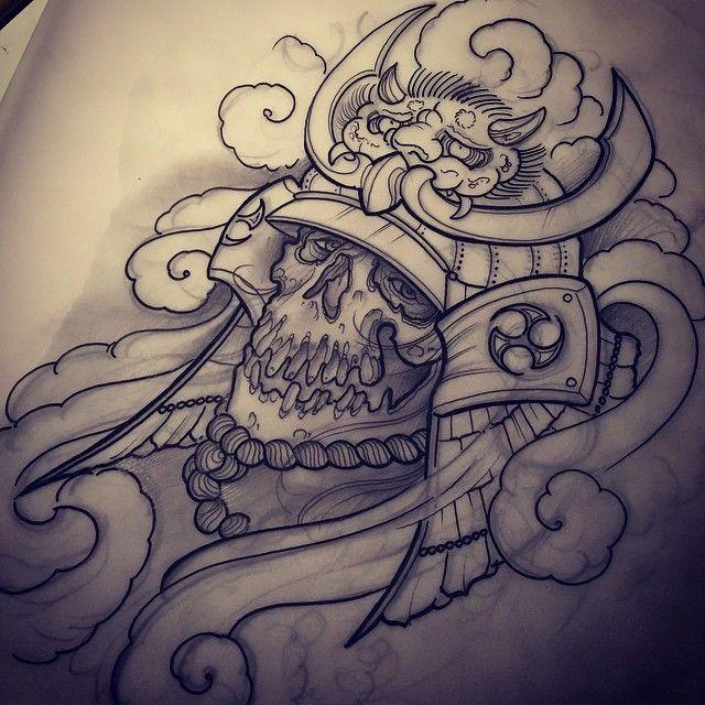 640x640 Samurai Skull Design Ideias Tattoo Skull Design