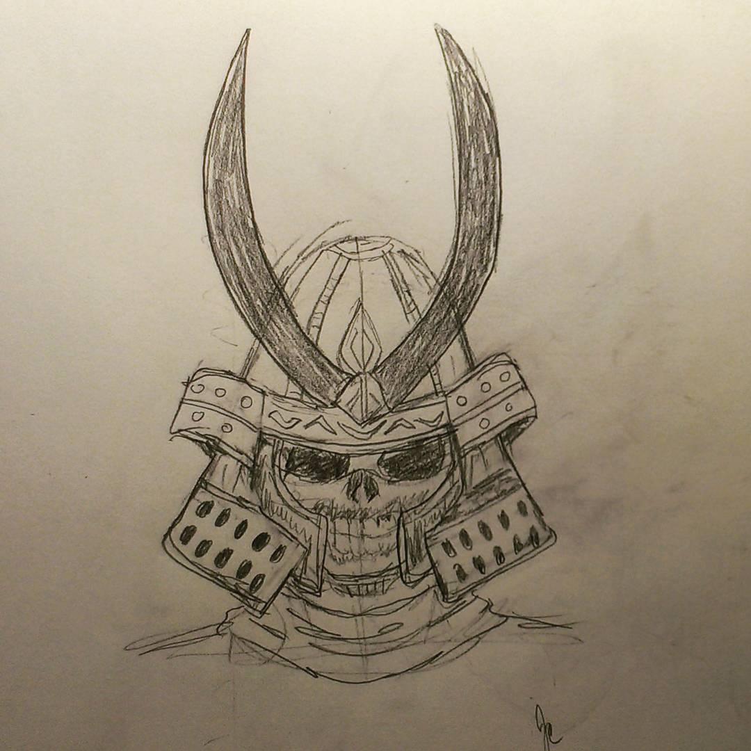 Samurai Helmet Drawing At Getdrawings