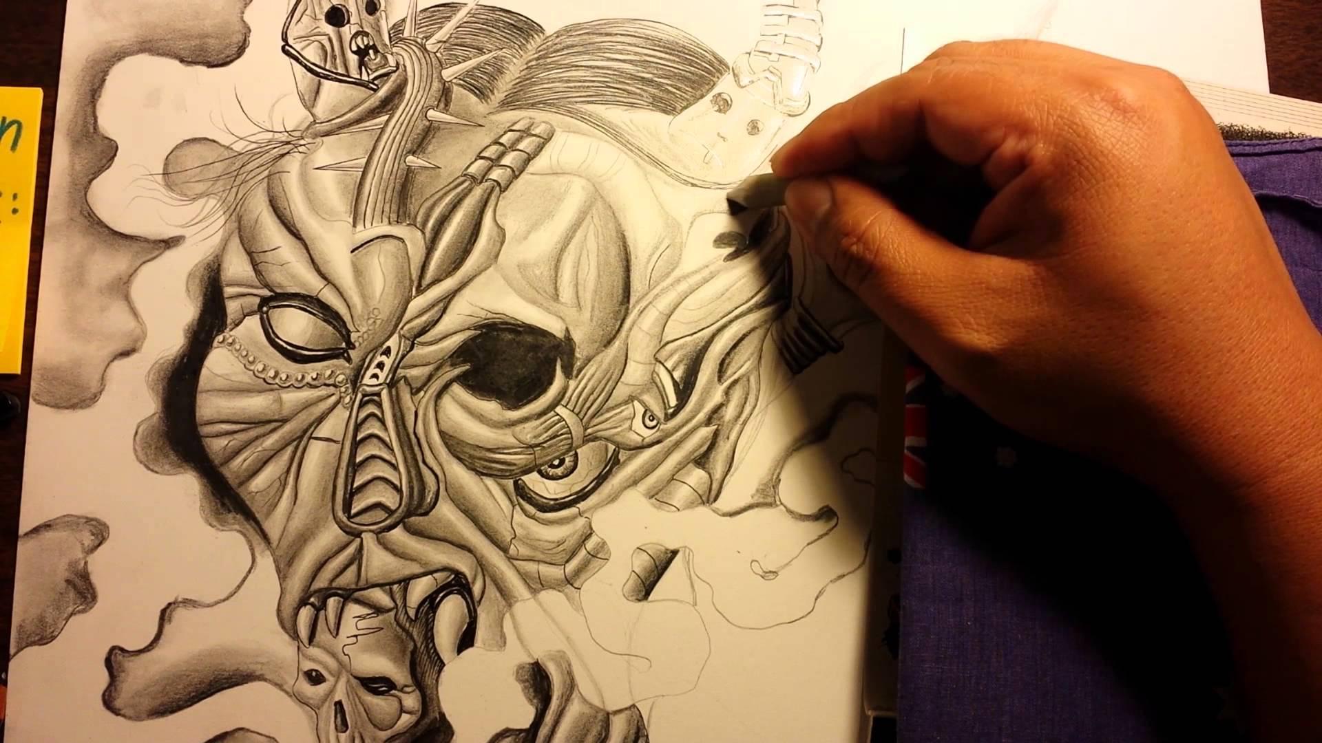 samurai mask drawing at getdrawings com free for personal use
