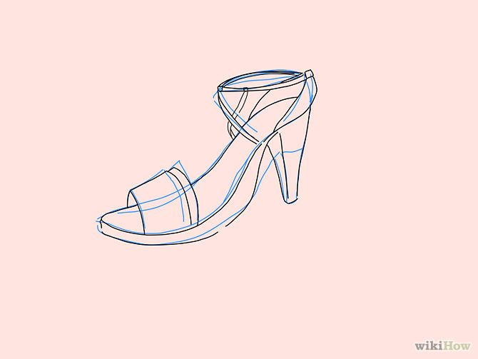 670x503 57. High Heels. Draw The Main Features Of The High Heel Sandals