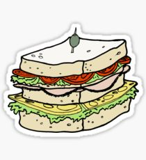 210x230 Cartoon Sandwich Drawing Stickers Redbubble