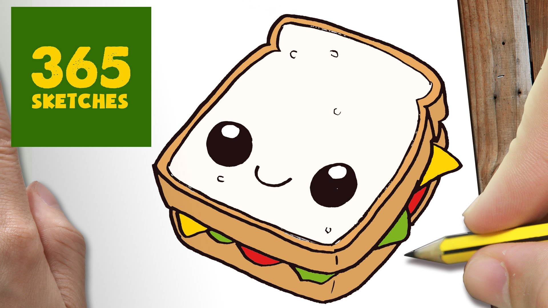 1920x1080 How To Draw A Sandwich Cute, Easy Step By Step Drawing Lessons