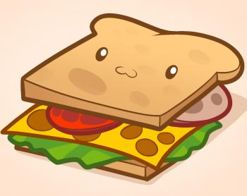 350x278 How To Draw How To Draw A Sandwich, Sandwich