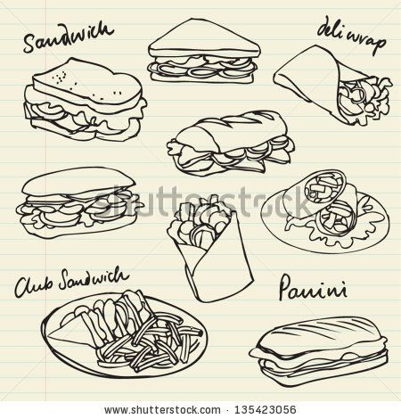 450x470 Sandwich Drawing Chalkboard