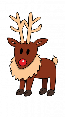 215x382 How To Draw Reindeer, Santa, Christmas, Easy Step By Step Drawing
